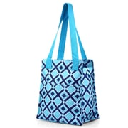 Zodaca Fashion Women Handbag Insulated Lunch Tote Zipper Carry Bag for Travel Grocery Shopping - Turquoise Times Square