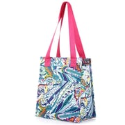 Zodaca Fashion Women Handbag Insulated Lunch Tote Zipper Double Handles Carry Bag for Travel Grocery Shopping - Paisley