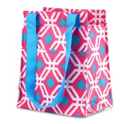 Zodaca Leak Resistant Reusable Insulated Lunch Tote Carry Storage Organizer Zip Cooler Bag - Pink Graphic