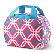 Zodaca Stylish Small Reusable Insulated Work School Lunch Tote Carry Storage Zipper Cooler Bag - Round Graphic