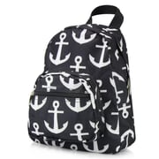 Zodaca Kids Small Travel Backpack Girls Boys Bookbag Shoulder Children's School Bag for Outside Activity - Black Anchor