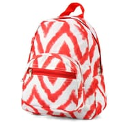 Zodaca Kids Small Travel Backpack Girls Boys Bookbag Shoulder Children's School Bag for Outside Activity - Tie Dye Red