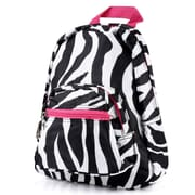 Zodaca Kids Small Travel Backpack Girls Boys Bookbag Shoulder Children's School Bag for Outside Activity - Zebra/Pink