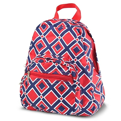 Zodaca Bright Stylish Kids Small Backpack Outdoor Shoulder School Zipper Bag Adjustable Strap - Times Squares Red