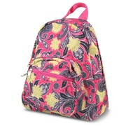 Zodaca Bright Stylish Kids Small Backpack Outdoor Shoulder School Zipper Bag Adjustable Strap - Yellow Paisley