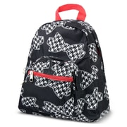 Zodaca Bright Stylish Kids Small Backpack Outdoor Shoulder School Zipper Bag Adjustable Strap - Hounds tooth Bow