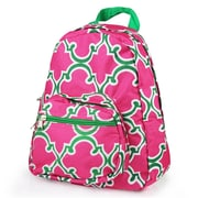 Zodaca Bright Stylish Kids Small Backpack Outdoor Shoulder School Zipper Bag Adjustable Strap - Pink Quatrefoil
