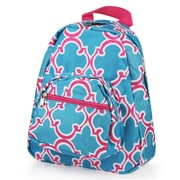 Zodaca Bright Stylish Kids Small Backpack Outdoor Shoulder School Zipper Bag Adjustable Strap - Blue Quatrefoil