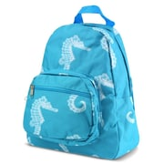 Zodaca Bright Stylish Kids Small Backpack Outdoor Shoulder School Zipper Bag Adjustable Strap - Seahorse