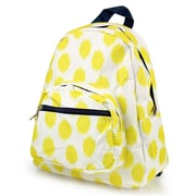 Zodaca Stylish Kids Small Backpack Outdoor Shoulder School Zipper Bag Adjustable Strap - Yellow Dots with Blue Trim