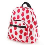 Zodaca Stylish Kids Small Backpack Outdoor Shoulder School Zipper Bag Adjustable Strap - Pink Dots with Black Trim