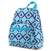 Zodaca Bright Stylish Kids Small Backpack Outdoor Shoulder School Zipper Bag Adjustable Strap - Times Square Turquoise