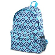 Zodaca Outdoor Large Backpack Padded Back Travel Hiking Camping Bag Adjustable Shoulder Strap - Times Square Turquoise