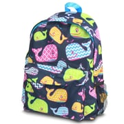 Zodaca Outdoor Large Backpack Padded Back Travel Hiking Camping Bag Adjustable Shoulder Strap - Whale