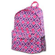 Zodaca Outdoor Large Backpack Padded Back Travel Hiking Camping Bag Adjustable Shoulder Strap - Times Square Pink