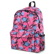 Zodaca Outdoor Large Backpack Padded Back Travel Hiking Camping Bag Adjustable Shoulder Strap - Pink Paisley