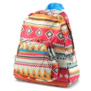 Zodaca Bright Stylish Kids Small Backpack Outdoor Shoulder School Zipper Bag Adjustable Strap - Aztec Blue Trim