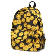 Zodaca Outdoor Large Backpack Padded Back Travel Hiking Camping Bag Adjustable Shoulder Strap - Yellow Softball