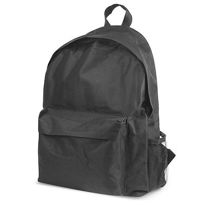 Zodaca Outdoor Large Backpack Padded Back Travel Hiking Camping Bag Adjustable Shoulder Strap - Black