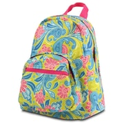 Zodaca Fashion Kids Backpack Schoolbag Small Bookbag Shoulder Children School Bag - Green/Pink Paisley