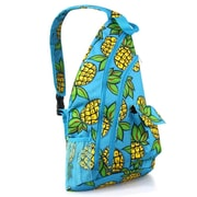 Zodaca Padded Cross Body Bag Shoulder Travel Camping Hiking Sling Backpack Zipper Bag - Pineapple