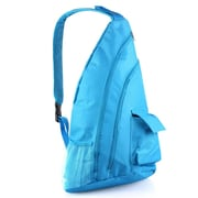 Zodaca Padded Cross Body Bag Shoulder Travel Camping Hiking Sling Backpack Zipper Bag - Blue