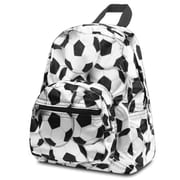 Zodaca Fashion Kids Backpack Schoolbag Small Bookbag Shoulder Children School Bag - White/Black Soccer