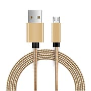 Insten Innovative Metal Snake Reliable Fast Data Charging Power Micro USB Cable with Aluminum Connectors - Gold