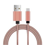 Insten USB 2.0 Type A to Type C Metal Snake USB Power Charging Cable wih Aluminum Connectors - Rose Gold