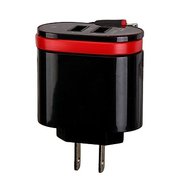 Insten 3.1A Micro USB Travel AC Wall Charger with Dual USB Charging Ports - Black