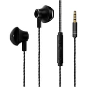 Insten Handsfree 3.5mm Metal Stereo In-Ear Headphone Earbuds Headset, Black (2358361)