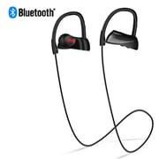 Insten Rechargeable IPX7 Waterproof Wireless Bluetooth Sports Stereo Handsfree Headset, Black (2374507)