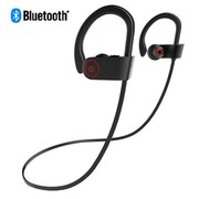 Insten Universal Rechargeable Wireless Bluetooth Sports Stereo Handsfree Headphone, Black (2374508)