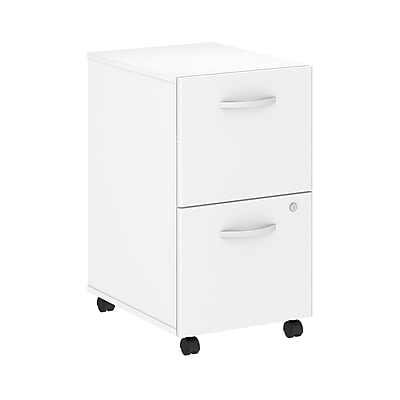 Bush Business Furniture Studio C 2 Drawer Mobile File Cabinet, White (SCF116WHSU)
