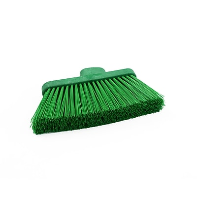 "Malish Green Angle Broom Head (055950) – For use with 48"" Green Fiberglass Handle"