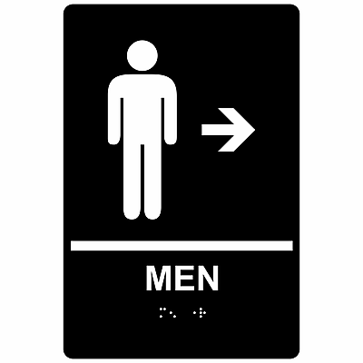ComplianceSigns ADA Mens / Boys Restroom Sign, 9