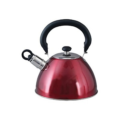 Gibson Morbern 1.8-Quart Whistling Tea Kettle Red (72750.03)
