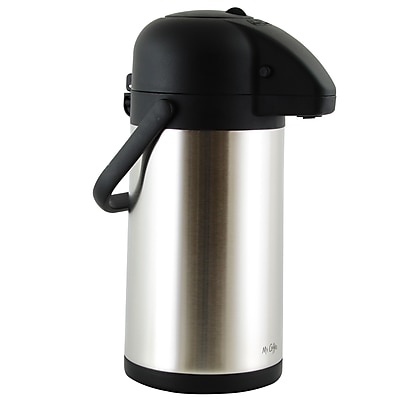 Mr Coffee Javamax Vacuum Sealed Double Wall Pump Pot 2.24-Quart Satin Brushed (116948.01)