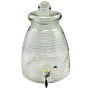 General Store 1-Gallon Beehive Shape Glass Beverage Dispenser