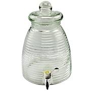 General Store 1-Gallon Beehive Shape Glass Beverage Dispenser
