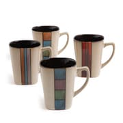 Gibson Cafe Melange 14 Ounces Assorted Mugs 4-Pack (79703.01)