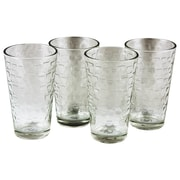 Gibson Home Great Foundations 16 Ounces Embossed Tumbler Glasses 4-Pack (92078.04)