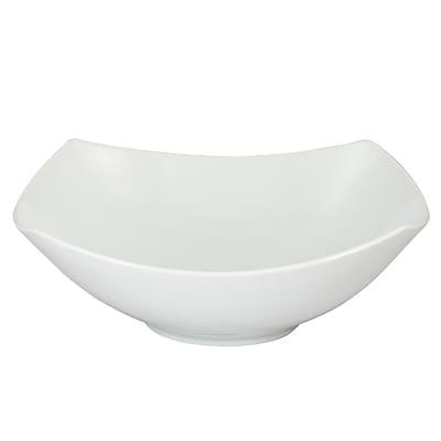 Gibson Elite Gracious Dining Ceramic Square Bowl White (91741.01)