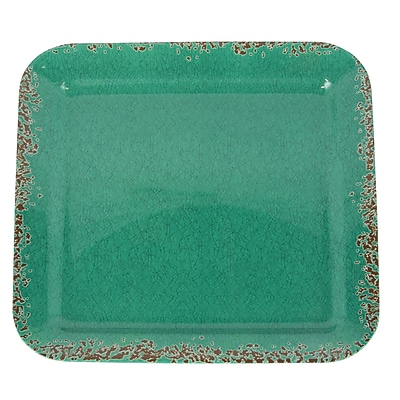 Studio California Mauna Square Serving Tray Green Crackle Finish (116938.01)