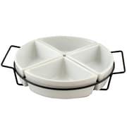 Gibson Gracious Dining Four Section Tray Set White (92605.05)