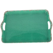 Studio California Mauna Rectangular Serving Tray Green Crackle Design (116939.01)