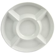 "Gibson Elite Gracious Dining 13"" 5-Section Divided Serving Tray White (91743.01)"