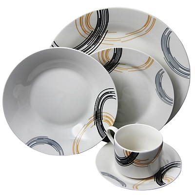 //.staples-3p.com/s7/is/. ×. Images for Gibson Artmore 20-Piece Porcelain Dinnerware Set White 105978.20  sc 1 st  Staples & Gibson Artmore 20-Piece Porcelain Dinnerware Set White 105978.20 ...