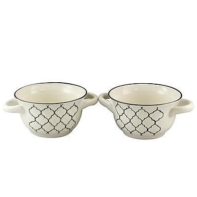 Crock-Pot Mathiston 27 oz. Ceramic Soup Bowls White 98271.02