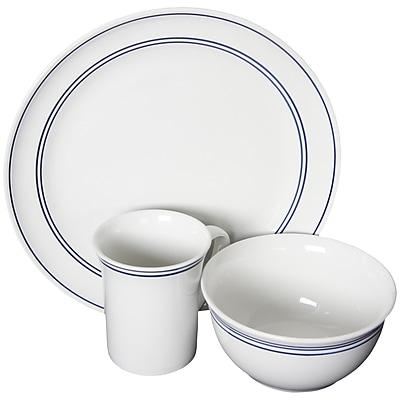 Gibson Home Porto 12-Piece Ceramic Dinnerware Set White 116998.12